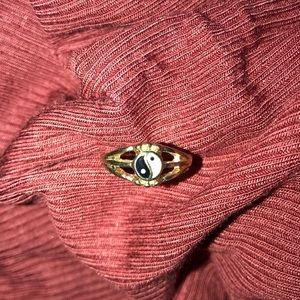 Yin and Yang Midi Ring